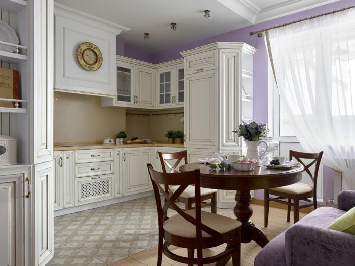 гардины на балконном проеме в кухне