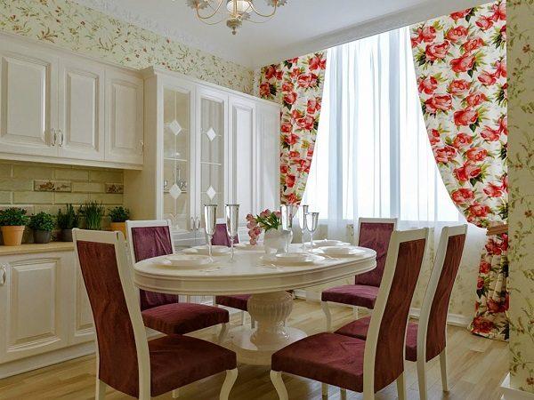фото: шторы на кухню в стиле прованс
