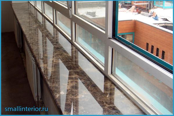 Столешница-подоконник на балконе