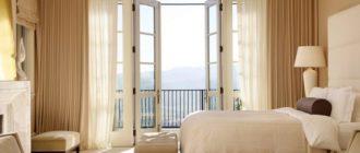 Шторы для балконной двери