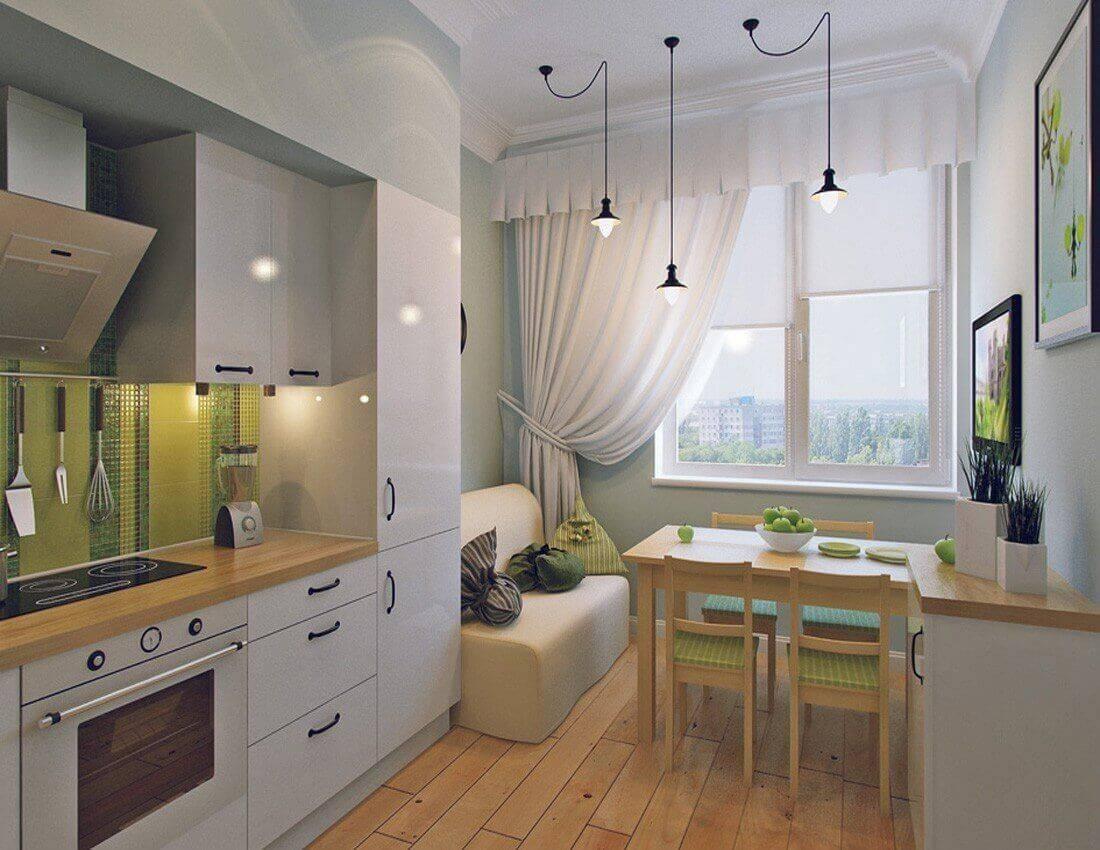 Идеи для совмещенной с лоджией кухни
